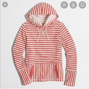J few factory flip striped hoodie